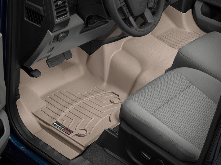 front duty floor tan super weathertech ford fit mats products floors custom liners supercrew
