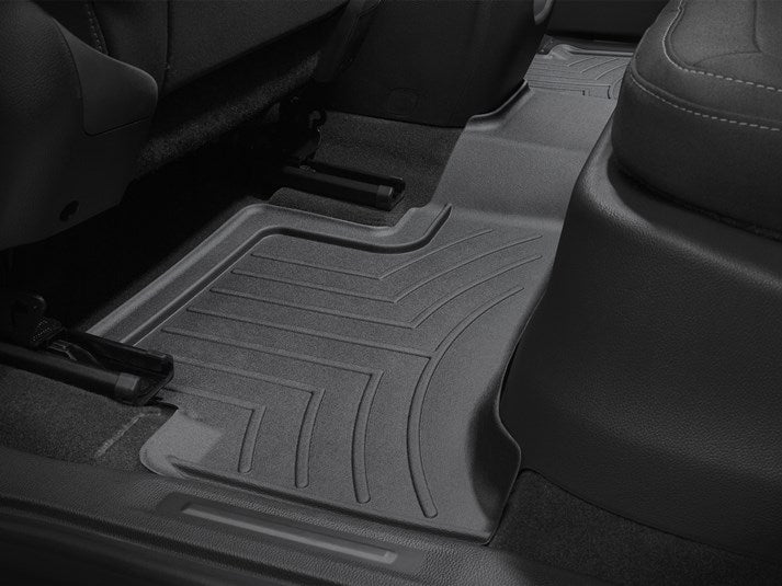 WeatherTech® 44751-1-3 GMC Canyon EXTENDED CAB 15-18 BLACK Floor Liner Set