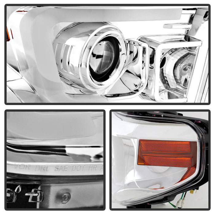 Spyder 5080141 Projector Headlights w/ LED HALO 2014-2016 Toyota Tundra