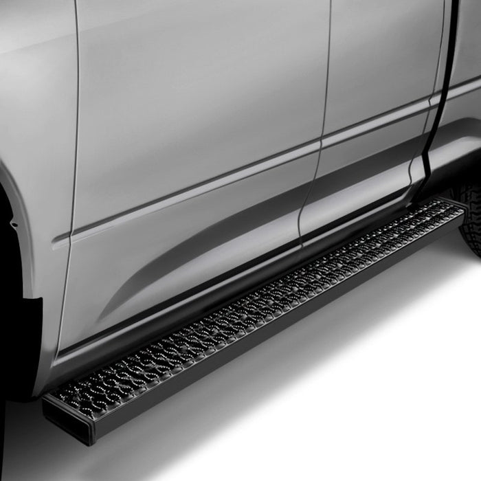 "Silverado/Sierra DOUBLE CAB 07-19 Aggressive Tread 6.5"" Running Boards TrailFX® RBA002TI"