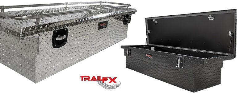 TrailFX® 120723CR - Trail Lock™ Low Profile Crossover Tool Box w/ Rail