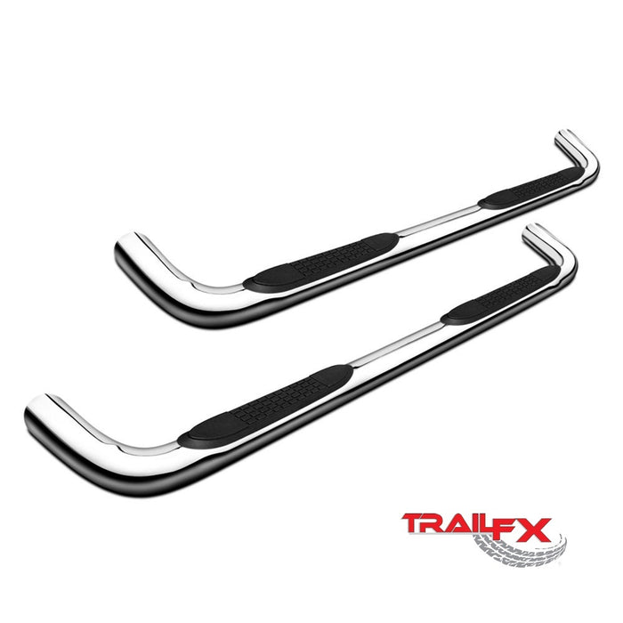 "GMC Sierra 1500 EXTENDED CAB 99-18 STAINLESS 3"" Step Bars TrailFX A0030S"