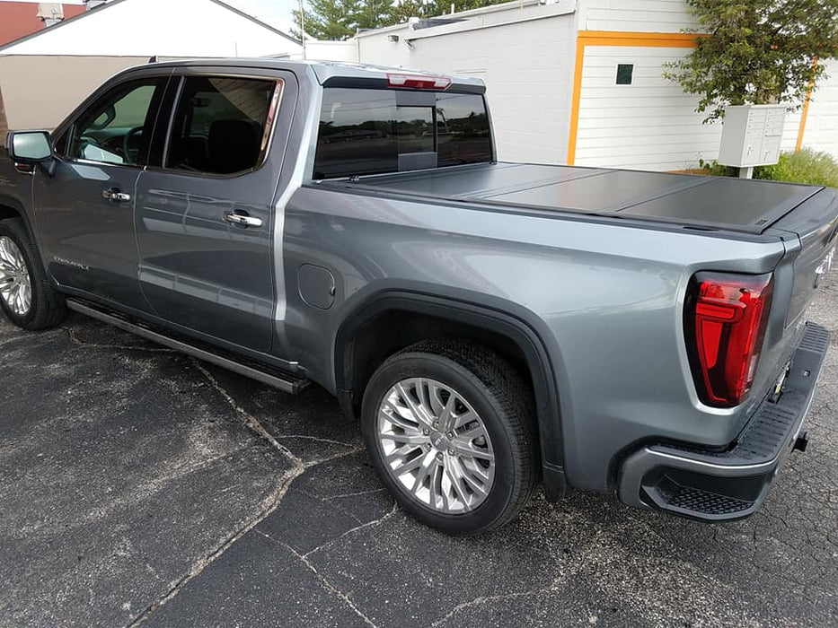 fits 2019 GMC Sierra 1500 5.8 ft Bed New Body Style UnderCover Ultra Flex Hard Folding Truck Bed Tonneau Cover UX12022 Crew//Ext w//Multipro TG-Matte Black Finish
