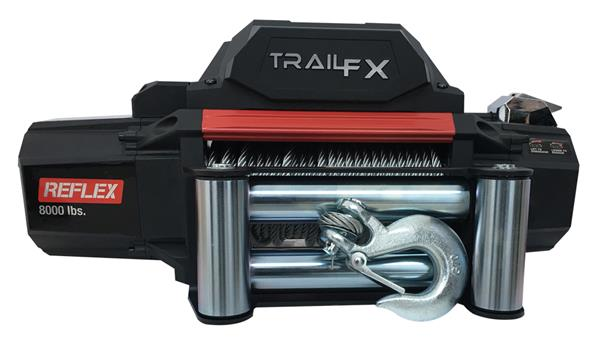TrailFX-WR08B-TrailFX® WR08B 8.000 lb REFLEX Series Winch w/ Wireless Remote-AutoAccessoriesGuru.com