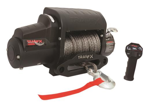 TrailFX-WS10B-TrailFX® WS10B 10,000 lb Capacity Vehicle Recovery Winch - Synthetic Rope-AutoAccessoriesGuru.com