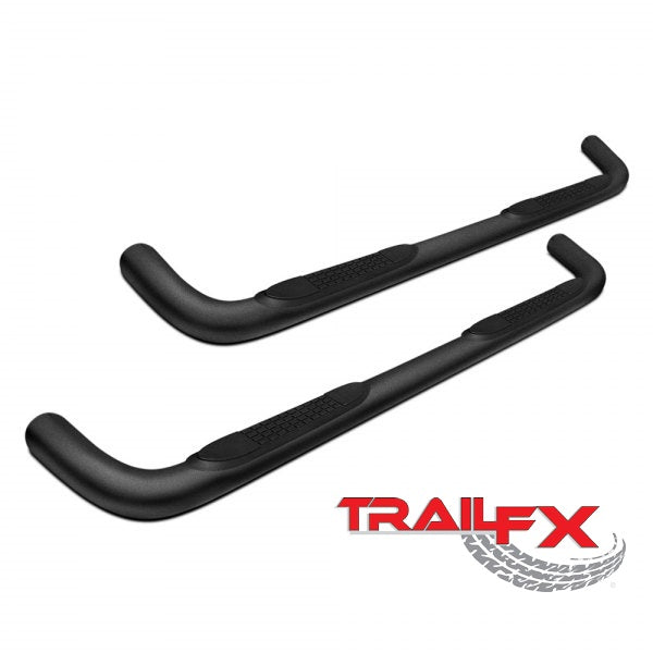 "Jeep Wrangler 2 door 07-17 BLACK 3"" Step Bars Trail FX # A0027T"
