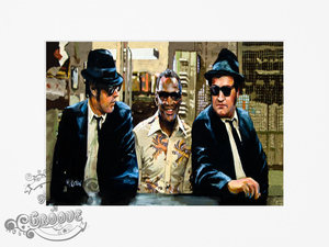 Blues Brothers and Ray Charles