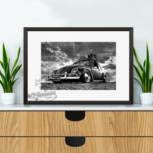 Load image into Gallery viewer, Volkswagen Black & White Beatle
