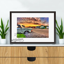Load image into Gallery viewer, Volkswagen Capmervan Lineup Sunset