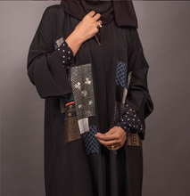 Load image into Gallery viewer, Black Abaya with Design - Free size