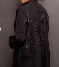 Load image into Gallery viewer, Abaya Black Uni - Free size