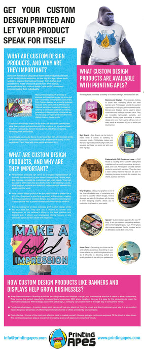 Get Your Custom Design Printed and Let Your Product Speak for Itself [Infographic]