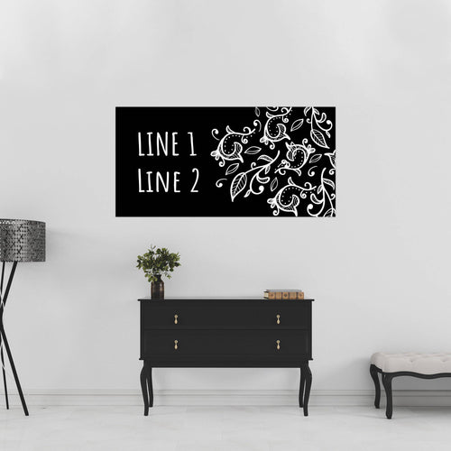 Black & White Paisley - 1 of 3 - All Occasion - Banners - PrintingApes