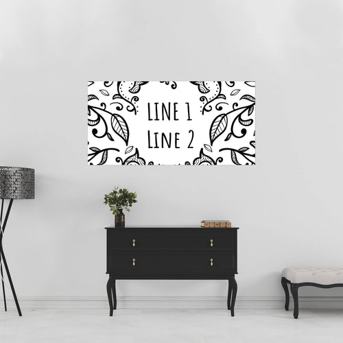 Black & White Paisley - 2 of 3 - All Occasion - Banners - PrintingApes