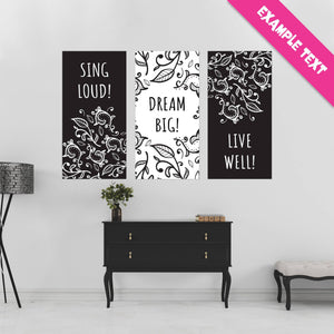 Black & White Paisley - 3 of 3 - All Occasion - Banners - PrintingApes