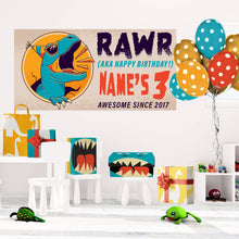 Load image into Gallery viewer, Dinosaur Rawr - Birthday - Banners - PrintingApes