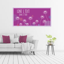 Load image into Gallery viewer, Flowers on Purple - All Occasion - Banners - PrintingApes