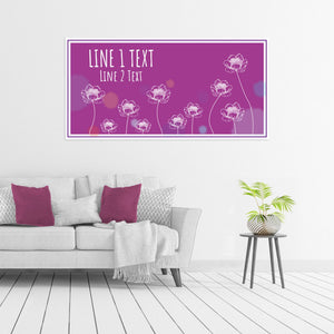 Flowers on Purple - All Occasion - Banners - PrintingApes