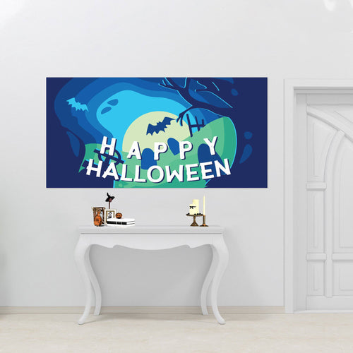 Happy Halloween in the Graveyard - Halloween - Banners - PrintingApes
