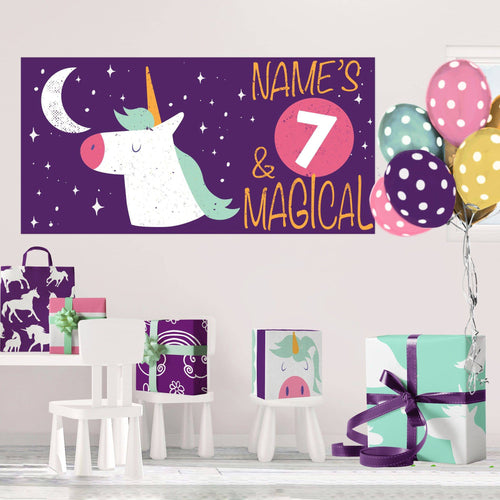 Magical Unicorn - Birthday - Banners - PrintingApes