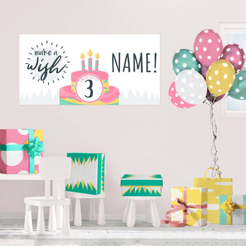 Make a Wish - Birthday - Banners - PrintingApes