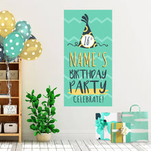 Load image into Gallery viewer, Mint Waves - Birthday - Banners - PrintingApes