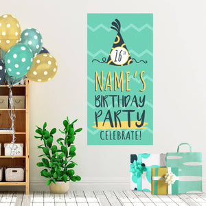 Mint Waves - Birthday - Banners - PrintingApes
