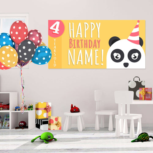 Panda - Birthday - Banners - PrintingApes