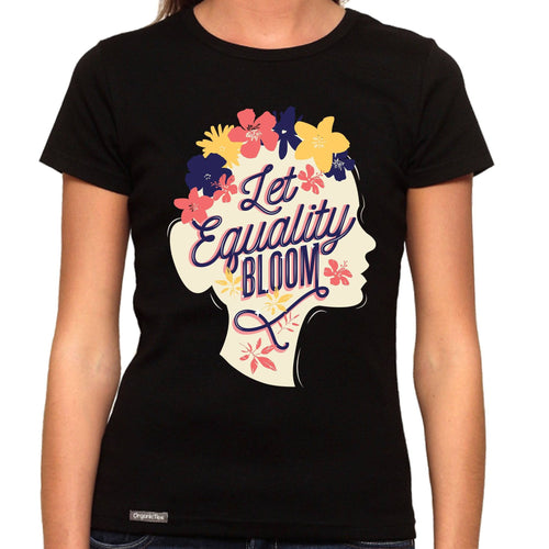 Let Equality Bloom - Organic T-Shirt - Women's (Style: Altai) - PrintingApes
