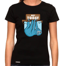Load image into Gallery viewer, Not Today Sloth - Organic T-Shirt - Women's (Style: Altai) - PrintingApes
