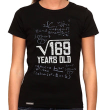 Load image into Gallery viewer, Square Root Of 169 - 13th Birthday - Organic T-Shirt - Women's (Style: Altai) - PrintingApes