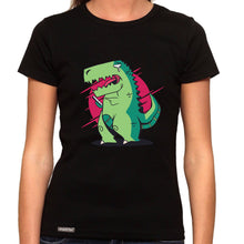Load image into Gallery viewer, T-Rex Can't Text - Organic T-Shirt - Women's (Style: Altai) - PrintingApes