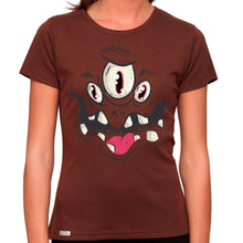 Load image into Gallery viewer, Monster Face - Organic T-Shirt - Women's (Style: Altai) - PrintingApes