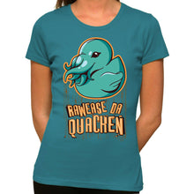 Load image into Gallery viewer, Rawease Da Quacken - Organic T-Shirt - Women's (Style: Altai) - PrintingApes