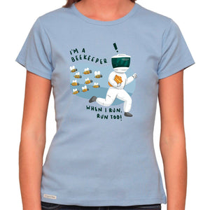 I'm A Bee Keeper - Organic T-Shirt - Women's (Style: Altai) - PrintingApes