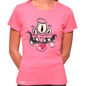 Monster Face - Organic T-Shirt - Women's (Style: Altai) - PrintingApes