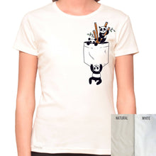 Load image into Gallery viewer, Pocket Panda - Organic T-Shirt - Women's (Style: Altai) - PrintingApes
