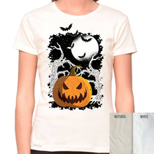 Load image into Gallery viewer, Pumpkin Forest - Organic T-Shirt - Women's (Style: Altai) - PrintingApes