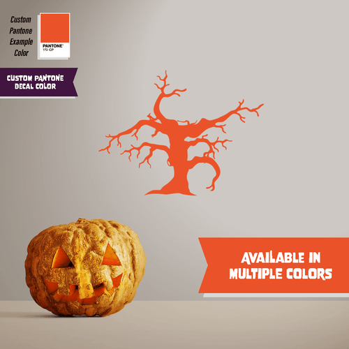 Crooked Tree - Halloween - Wall Decal - PrintingApes