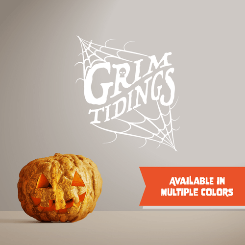 Grim Tidings - Halloween - Wall Decal - PrintingApes