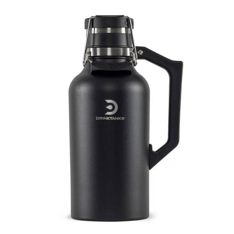 DrinkTanks® 64 oz Vacuum Insulated Stainless Steel Growler (Black)