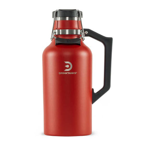 DrinkTanks® 64 oz Vacuum Insulated Stainless Steel Growler (Red)