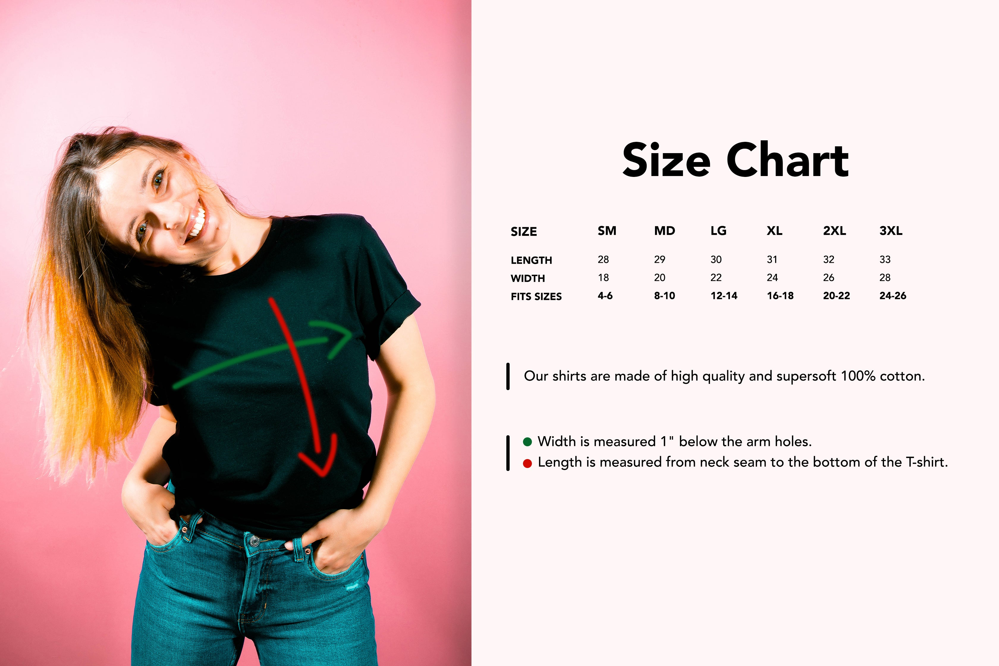 Peachy Size Guide