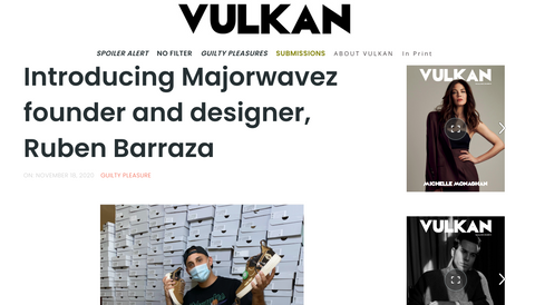 Majorwavez founder Ruben Barraza Vulkan Magazine interview