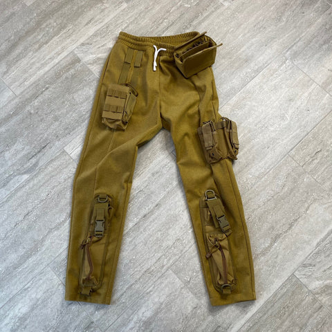 Majorwaves Cut and Sew 1/1 Green Pants