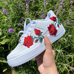 Embroidery Rose Air Force 1