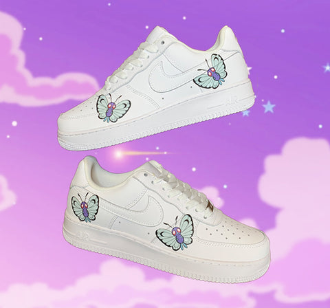 "HD Clear ""Butterfree"" Butterfly Air Force 1"