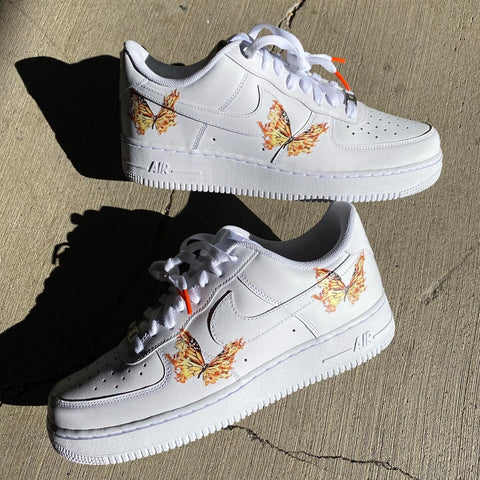 Flames Butterfly Air Force 1