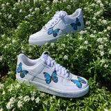Blue HD Clear Butterfly Air Force 1