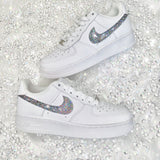 Diamond Bling Swoosh Air Force 1
